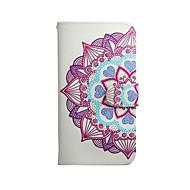 Для Кейс для  Samsung Galaxy Бумажник для карт / Кошелек / со стендом / Флип / С узором Кейс для Чехол Кейс для Мандала Искусственная кожа