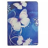 halpa Galaxy Tab A 9.7 kotelot / kuoret-Varten Samsung Galaxy kotelo Lomapkko / Korttikotelo / Tuella / Flip / Kuvio Etui Kokonaan peittävä Etui Perhonen Tekonahka SamsungTab 4