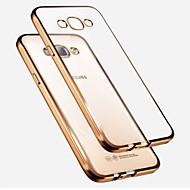 Недорогие Чехлы и кейсы для Galaxy А-Кейс для Назначение SSamsung Galaxy Кейс для  Samsung Galaxy Покрытие Полупрозрачный Кейс на заднюю панель Сплошной цвет ТПУ для A7 A5
