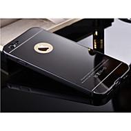 Недорогие Кейсы для iPhone 8 Plus-Кейс для Назначение Apple iPhone X / iPhone 8 / iPhone 6 Plus Зеркальная поверхность Кейс на заднюю панель Однотонный Твердый Металл для iPhone 8 Pluss / iPhone 8