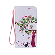 cheap Cases / Covers for Samsung-Case For Samsung Galaxy Samsung Galaxy Case Card Holder Wallet with Stand Flip Pattern Full Body Cases Tree PU Leather for Xcover 3 J7