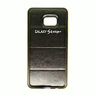Недорогие Чехлы и кейсы для Galaxy S6 Edge Plus-Кейс для Назначение SSamsung Galaxy Кейс для  Samsung Galaxy С узором Кейс на заднюю панель Градиент цвета Кожа PU для S6 edge plus S6