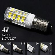 お買い得  LED コーン型電球-4W E14 / G9 / G4 / E12 LEDコーン型電球 T 52 SMD 2835 320lm±5% lm 温白色 / クールホワイト 装飾用 交流220から240 / AC 110-130 V 5個