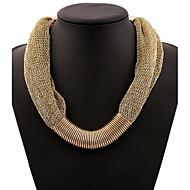 お買い得  -女性用 ステートメントネックレス  -  欧風, ファッション ゴールド, ライトブルー ネックレス 用途 パーティー, 誕生日, 贈り物