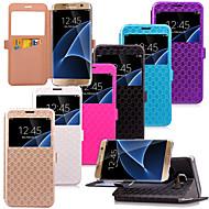 karzea ™ ромба и TPU пу кожаный чехол с подставкой для Samsung Galaxy s7 / s7 край (ассорти цветов)