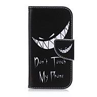 baratos Capinhas /Cases para Samsung-Capinha Para Samsung Galaxy Samsung Galaxy Capinhas Porta-Cartão Carteira Com Suporte Flip Capa Proteção Completa Desenho Animado PU