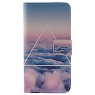 Varten Samsung Galaxy kotelo Korttikotelo / Tuella / Flip / Kuvio / Magneetti Etui Kokonaan peittävä Etui Maisema Tekonahka Samsung