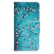 Недорогие Чехлы и кейсы для Galaxy A5(2016)-Кейс для Назначение SSamsung Galaxy Кейс для  Samsung Galaxy Бумажник для карт со стендом Флип Магнитный С узором Чехол Цветы Кожа PU для
