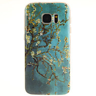 cheap Cases / Covers for Samsung-Case For Samsung Galaxy Samsung Galaxy S7 Edge Pattern Back Cover Tree TPU for S7 edge S7 S6 edge plus S6 edge S6