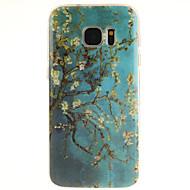 Недорогие Чехлы и кейсы для Galaxy S7 Edge-Кейс для Назначение SSamsung Galaxy Samsung Galaxy S7 Edge С узором Кейс на заднюю панель дерево ТПУ для S7 edge S7 S6 edge plus S6 edge