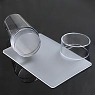 Χαμηλού Κόστους -διαφανή σφραγίδα τέχνη νυχιών ξύστρα σαφές ζελέ σφραγίδα που νυχιών σφράγιση εργαλεία μανικιούρ