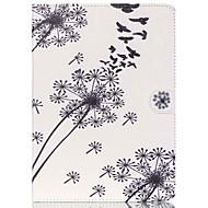 Недорогие Чехлы и кейсы для Galaxy Tab 4 7.0-Кейс для Назначение Samsung Бумажник для карт Кошелек со стендом С узором Авто Режим сна / Пробуждение Чехол Цветы Твердый Кожа PU для