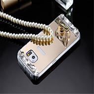 Varten Samsung Galaxy kotelo Pinnoitus / Peili / Koristeltu Etui Takakuori Etui Yksivärinen Akryyli Samsung A8 / A7 / A5