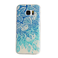 tanie Etui / Pokrowce do Samsunga-Kılıf Na Samsung Galaxy Samsung Galaxy S7 Edge Wzór Czarne etui Mandala TPU na S7 edge S7 S6 edge S6