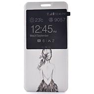 Недорогие Чехлы и кейсы для Galaxy S7-Кейс для Назначение SSamsung Galaxy Samsung Galaxy S7 Edge с окошком / Флип Чехол Соблазнительная девушка Кожа PU для S7 plus / S7 edge / S7
