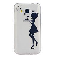 Назначение Кейс для  Samsung Galaxy Чехлы панели Прозрачный С узором Задняя крышка Кейс для Соблазнительная девушка Термопластик для