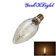 저렴한 -YouOKLight 250 lm E14 LED 글로브 전구 B 1 LED가 COB 장식 따뜻한 화이트 AC 220-240V