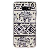 Для Кейс для  Samsung Galaxy Чехлы панели С узором Задняя крышка Кейс для Слон TPU для Samsung A5(2016) A3(2016)