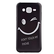 olcso Galaxy J1 tokok-Case Kompatibilitás Samsung Galaxy Samsung Galaxy tok Minta Fekete tok Szó / bölcselet TPU mert J5 J1 Grand Prime Core Prime