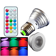 E26/E27 LED szpotlámpák MR16 1 led Nagyteljesítményű LED Tompítható Távvezérlésű Dekoratív RGB 300lm RGBK AC 100-240V