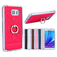 For Samsung Galaxy Note Ringholder Etui Bagcover Etui Geometrisk mønster Kunstlæder Samsung Note 5