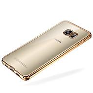 Недорогие Чехлы и кейсы для Galaxy S7 Edge-Кейс для Назначение SSamsung Galaxy Samsung Galaxy S7 Edge Покрытие / Прозрачный Кейс на заднюю панель Однотонный ТПУ для S7 edge / S7 / S6 edge