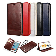 For iPhone X iPhone 8 iPhone 6 iPhone 6 Plus Case Cover Wallet Card Holder with Stand Flip Magnetic Full Body Case Solid Color Hard PU