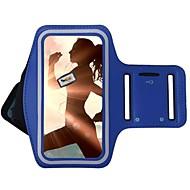 Недорогие Чехлы и кейсы для Galaxy S7 Edge-Кейс для Назначение универсальный с окошком Нарукавная повязка С ремешком на руку Сплошной цвет Мягкий текстильный для S8 Plus S8 S7 edge