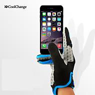 CoolChange® スポーツグローブ 女性用 / フリーサイズ サイクルグローブ 春 / 秋 サイクルグローブ 防滑り / 耐衝撃性 / 耐摩耗性 / 耐久性 / 低摩擦 / 抗紫外線 / 透湿性 フルフィンガー ライクラ サイクルグローブ / タッチグローブイエロー
