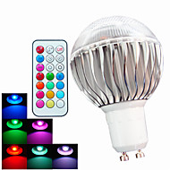 お買い得  LED ボール型電球-400 lm GU10 LEDボール型電球 A60(A19) 3 LEDの ハイパワーLED 調光可能 装飾用 リモコン操作 RGB AC 100-240V