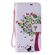 Для Samsung Galaxy S7 Edge Кошелек / Бумажник для карт / со стендом / Флип Кейс для Чехол Кейс для дерево Искусственная кожа SamsungS7