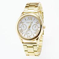 Herrn Uhr Armbanduhr Quartz Edelstahl Gold Armbanduhren für den Alltag Analog Charme Weiß Schwarz / Ein Jahr / Jinli 377