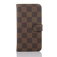 Недорогие Чехлы и кейсы для Galaxy S7-Кейс для Назначение SSamsung Galaxy Samsung Galaxy S7 Edge Бумажник для карт Кошелек со стендом Флип Чехол Геометрический рисунок Кожа PU