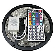 Z®zdm 5m 72w 300x5050 rgb smd light led strip light 44key ir kit controle remoto (dc12v)