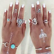 Недорогие Бижутерия-Жен. Массивные кольца Кольцо на кончик пальца На заказ Регулируется Мода Сплав Треугольник Животный принт Бижутерия Для вечеринок