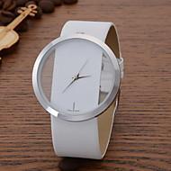 voordelige Modieuze horloges-Dames Modieus horloge Vrijetijdshorloge Kwarts Leer Band Zwart Wit Blauw Rood Bruin