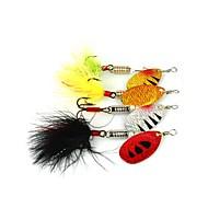 お買い得  釣り用アクセサリー-4 個 ルアー メタルベイト メタル スピニング 川釣り 一般的な釣り ルアー釣り バス釣り