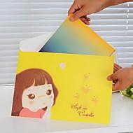 preiswerte Schreibwaren-Candy Mädchen Musterpapier-Datei (1 PC gelegentliche Farbe)