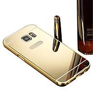 Недорогие Чехлы и кейсы для Galaxy Core Prime-Кейс для Назначение SSamsung Galaxy Покрытие Зеркальная поверхность Кейс на заднюю панель Сплошной цвет Твердый ПК для Grand Prime Core