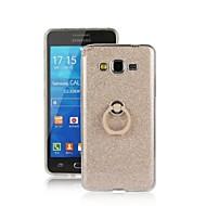 Для Кейс для  Samsung Galaxy Кольца-держатели Кейс для Задняя крышка Кейс для Сияние и блеск TPU Samsung Grand Prime
