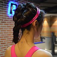 pelo yoga de los hombres las mujeres de grupos de deportes de la venda elástico antideslizante de caucho cinta absorbente ciclismo de yoga
