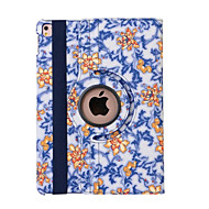 billige -Etui Til iPad Mini 3/2/1 med stativ Autodvale / aktivasjon Origami 360° rotasjon Heldekkende etui Blomsternål i krystall PU Leather til