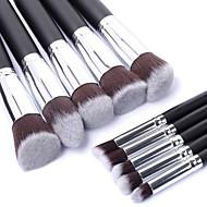 10PCS Professional Cosmetic Makeup Brush Set Eyeshadow&Face Foundation Blending Blush Powder Brush Kit