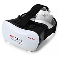 cheap VR Glasses-2016 VR BOX Google Cardboard 3D Movie VR Case Head Mount Plastic VR BOX Version Virtual Reality Glasses for Smart Phone