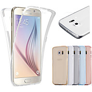 billige Galaxy S7 Edge Etuier-Etui Til Samsung Galaxy Samsung Galaxy S7 Edge Transparent Fuldt etui Helfarve TPU for S7 edge S7 S6 edge S6