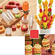お買い得  キッチン用小物-キッチンツール プラスチック DIYの金型 フルーツのための 1セット