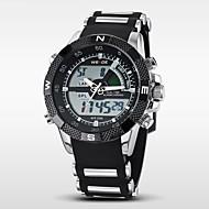 WEIDE Muškarci digitalni sat Ručni satovi s mehanizmom za navijanje Kvarc Šiljci za meso Japanski kvarcLCD Kalendar Kronograf