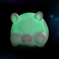 voordelige Draagbare verlichting-creatieve kleur veranderende kleurrijke varken geleid nachtlampje