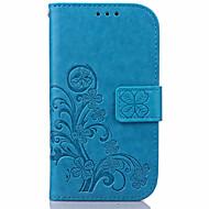 Недорогие Чехлы и кейсы для Galaxy S6 Edge Plus-Кейс для Назначение SSamsung Galaxy Samsung Galaxy S7 Edge Бумажник для карт Кошелек со стендом Флип Рельефный Чехол Цветы Кожа PU для S7