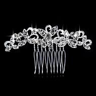 abordables Tocados-Mujer Elegant Cristal Plata Diamante Sintético Peine Plata